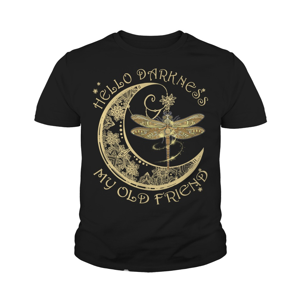 Moon and dragonfly Hello old friend youth tee