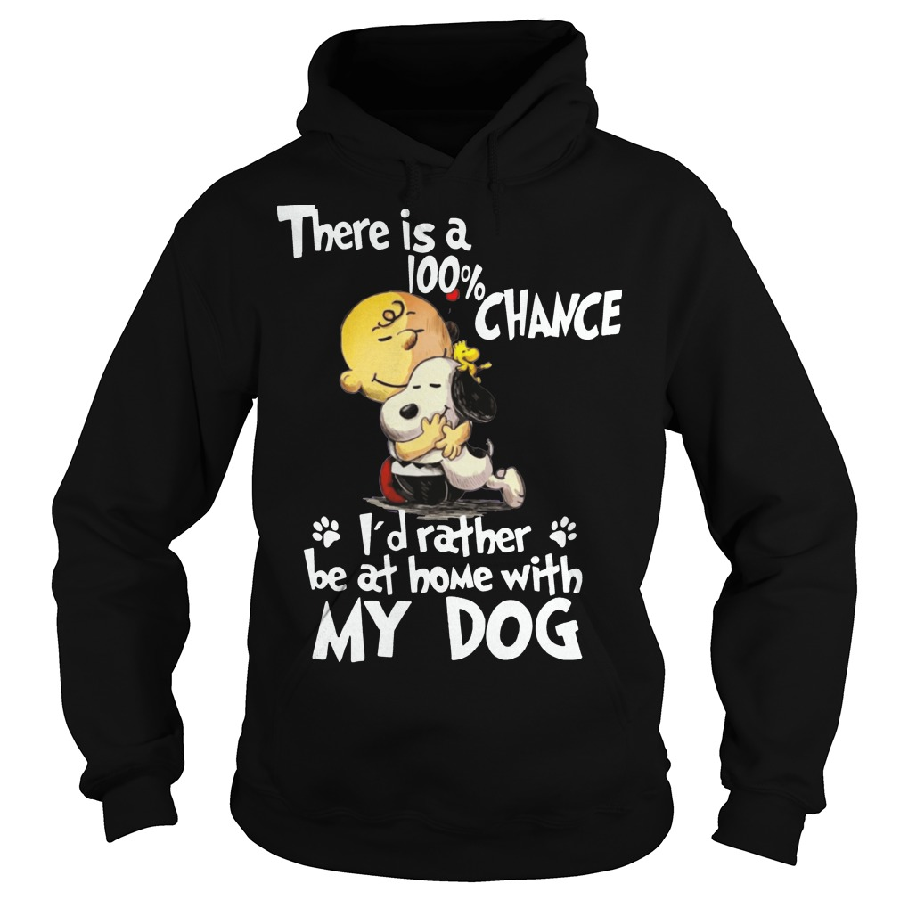 Snoopy there's a 100% chance I'd rather my dog hoodie