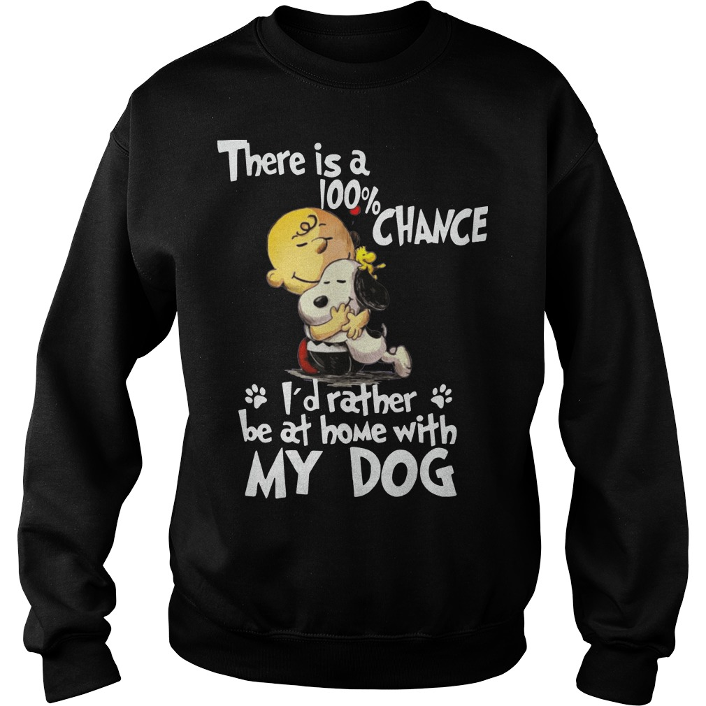 Snoopy there's a 100% chance I'd rather my dog sweater