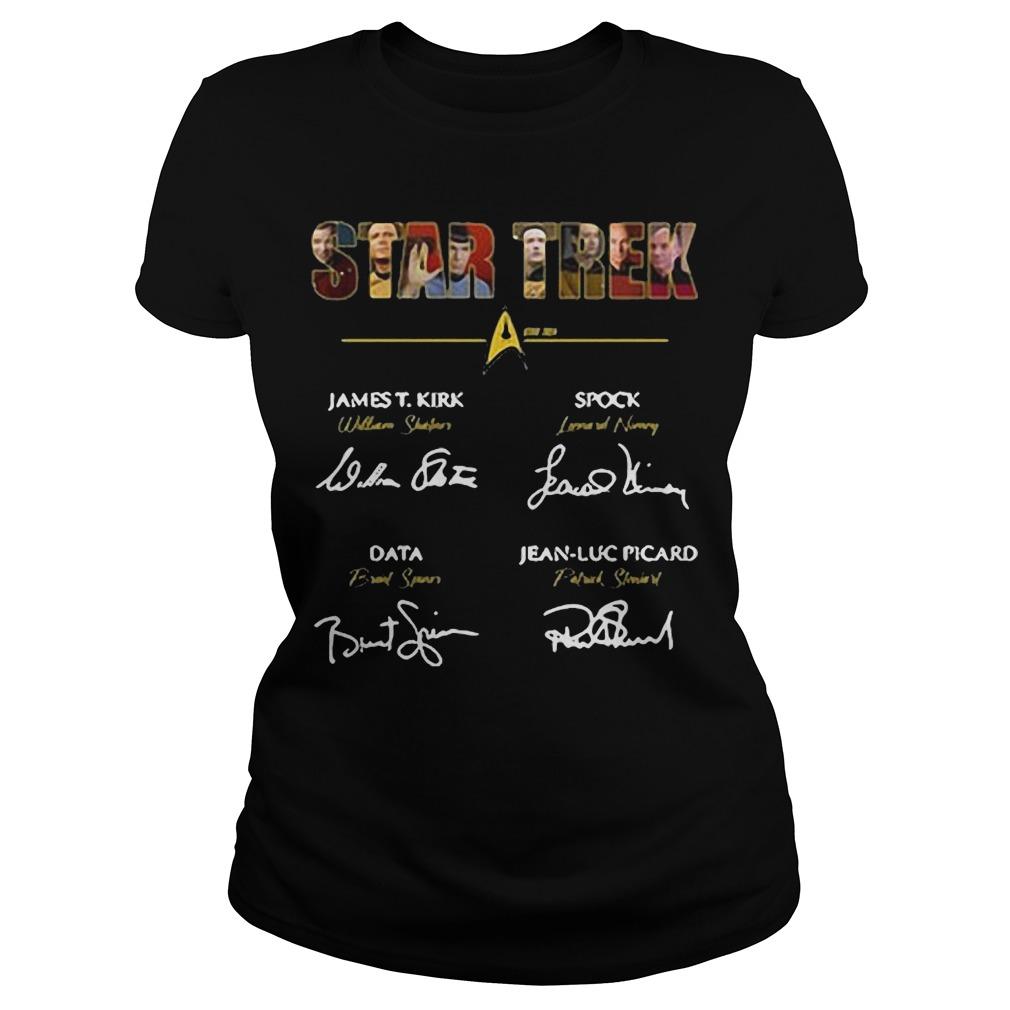Star Trek James T.Kirk signature ladies tee