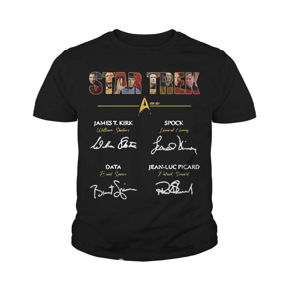 Star Trek James T.Kirk signature youth tee