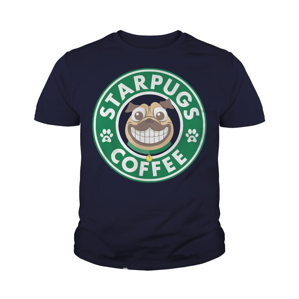 StarPugs coffee for Pug lovers youth tee