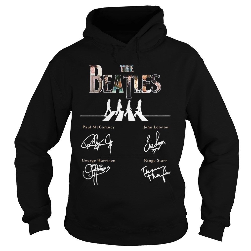 The Beatles abbey road signature hoodie
