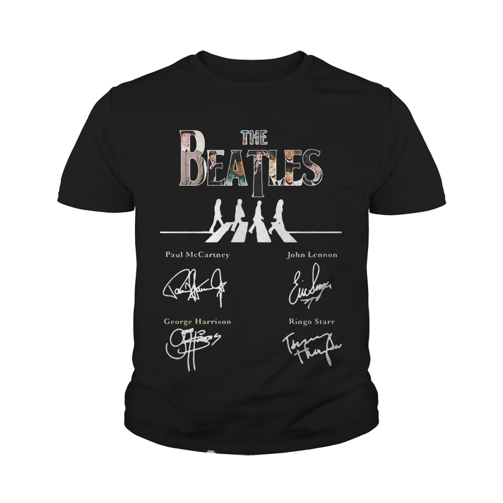 The Beatles abbey road signature youth tee