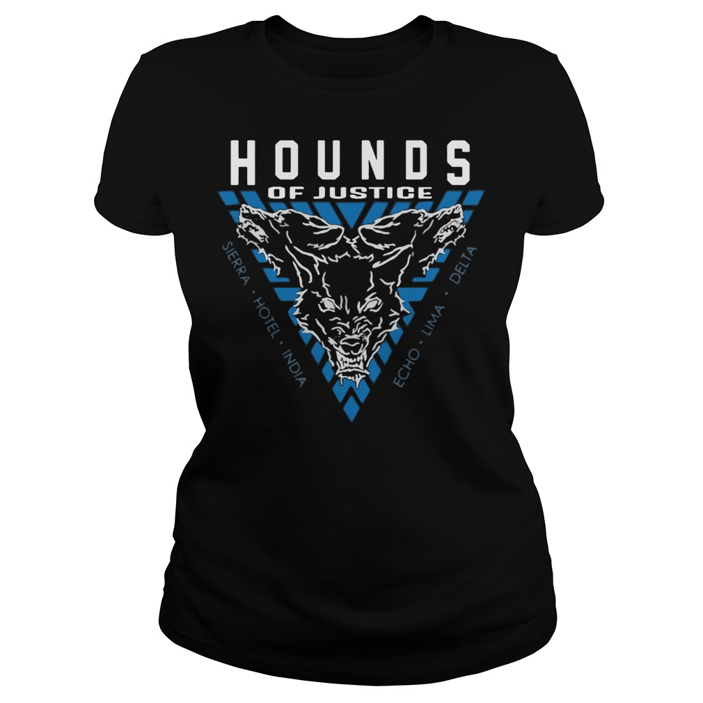 The Shield Hounds of Justice Authentic ladies tee