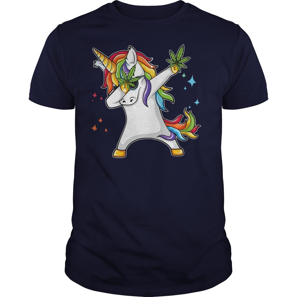 Unicorn dabbing Weed shirt