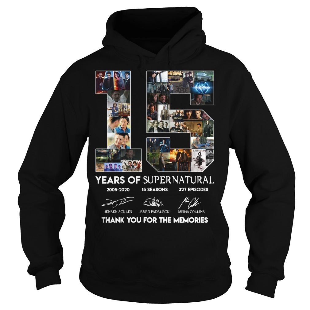15 years of Supernatural hoodie