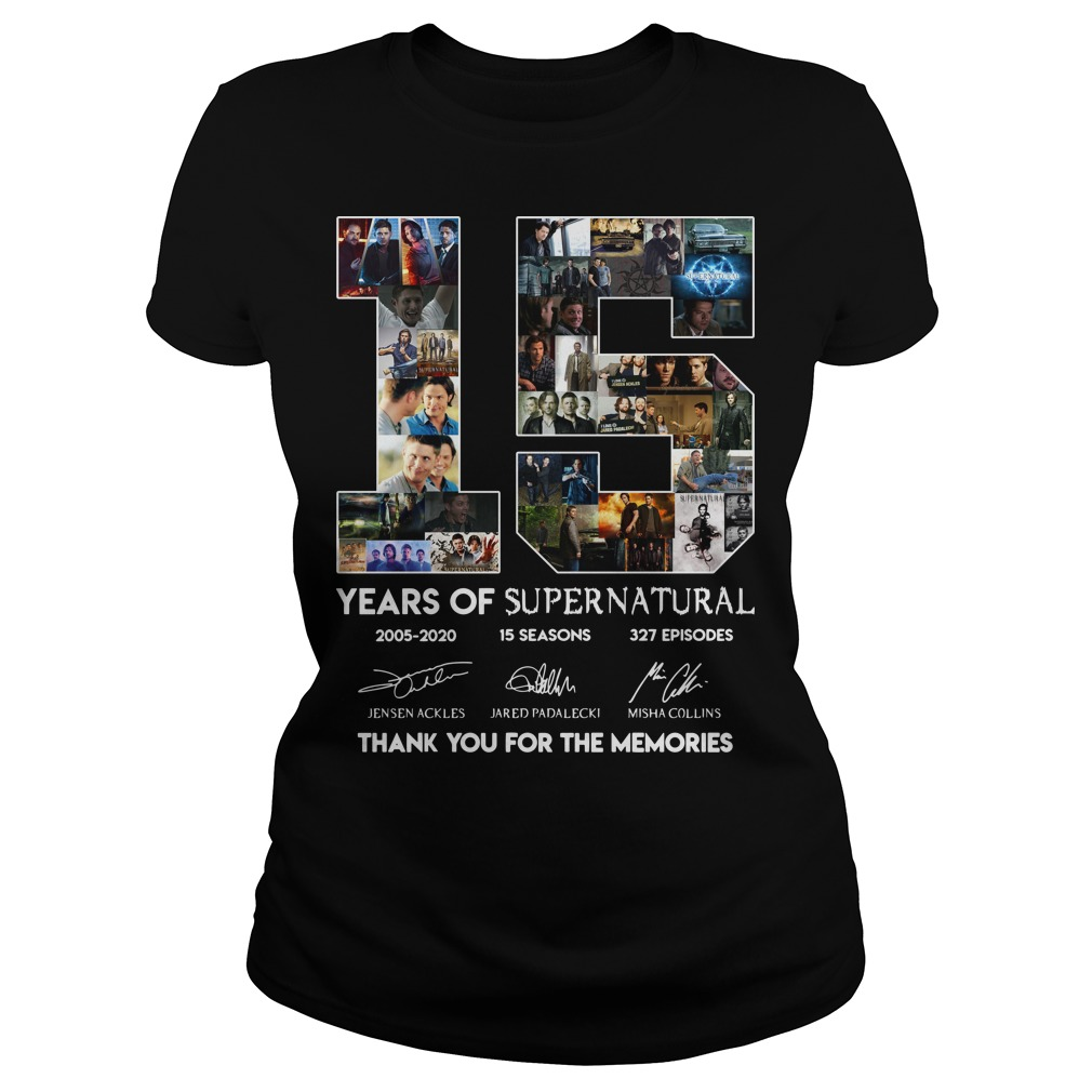 15 years of Supernatural ladies tee