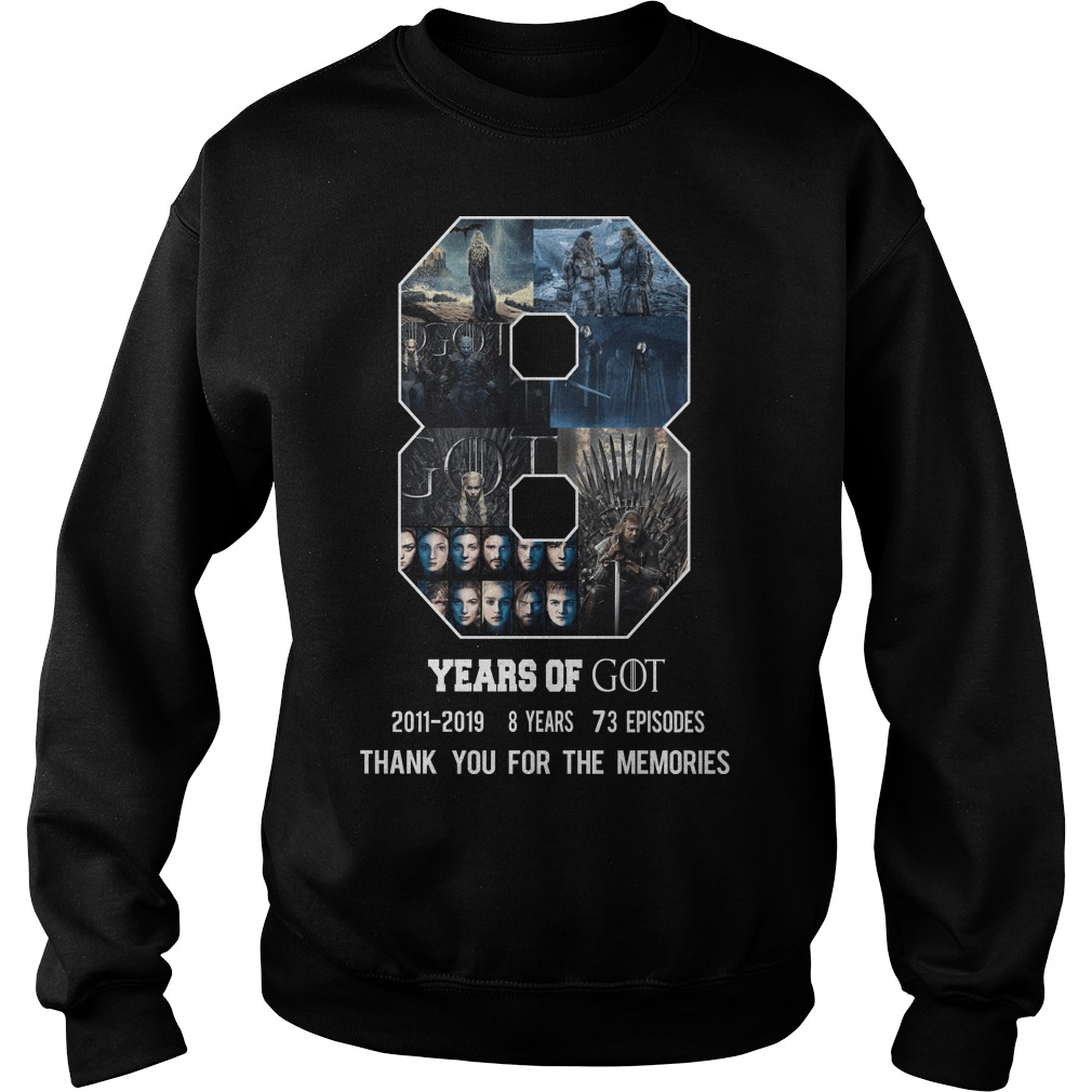 8 years of Game of Thrones thank you for the memories sweater