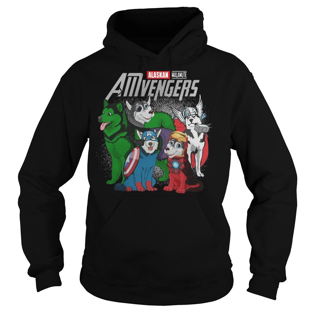 Alaskan Malamute AMvengers Marvel Endgame hoodie