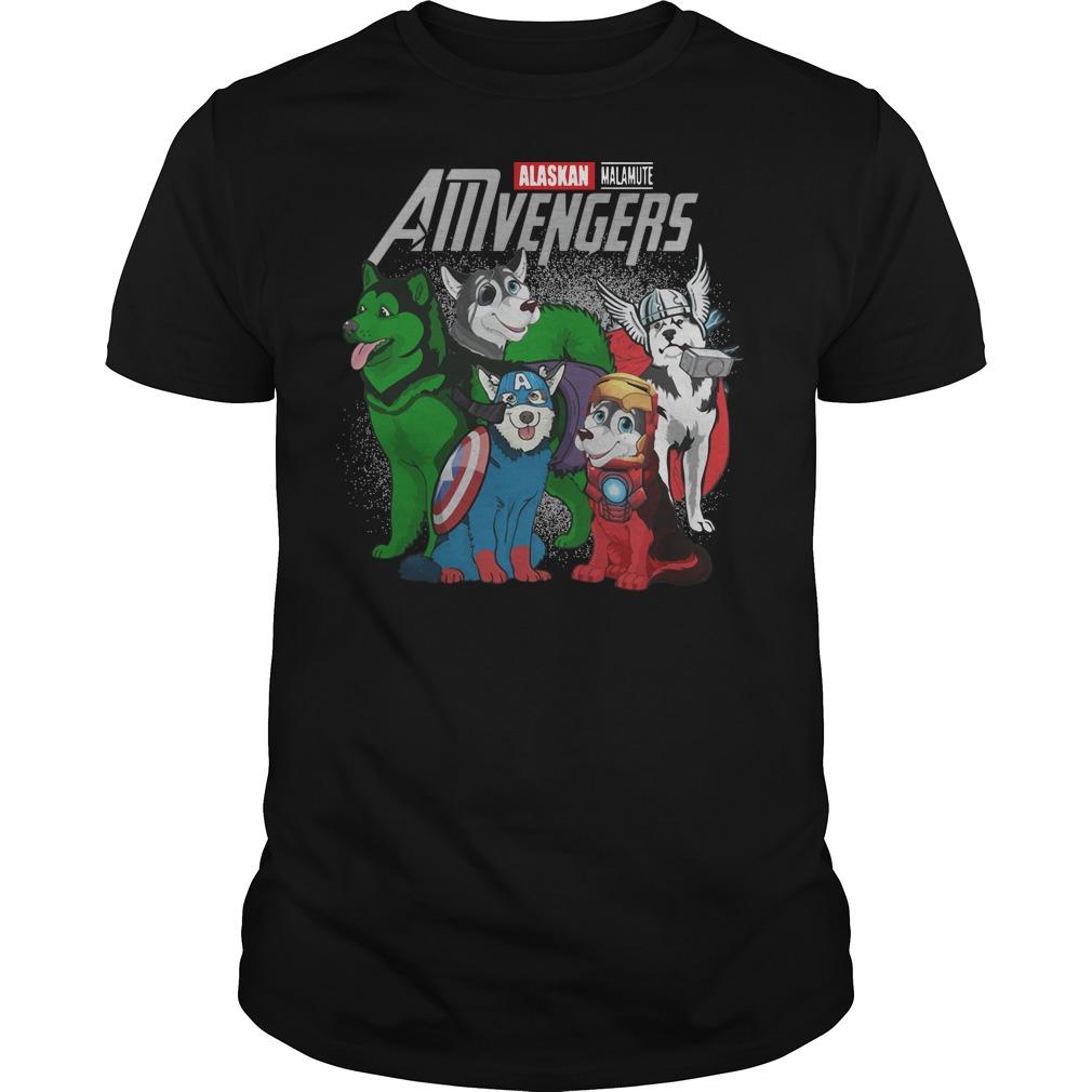 Alaskan Malamute AMvengers Marvel Endgame shirt