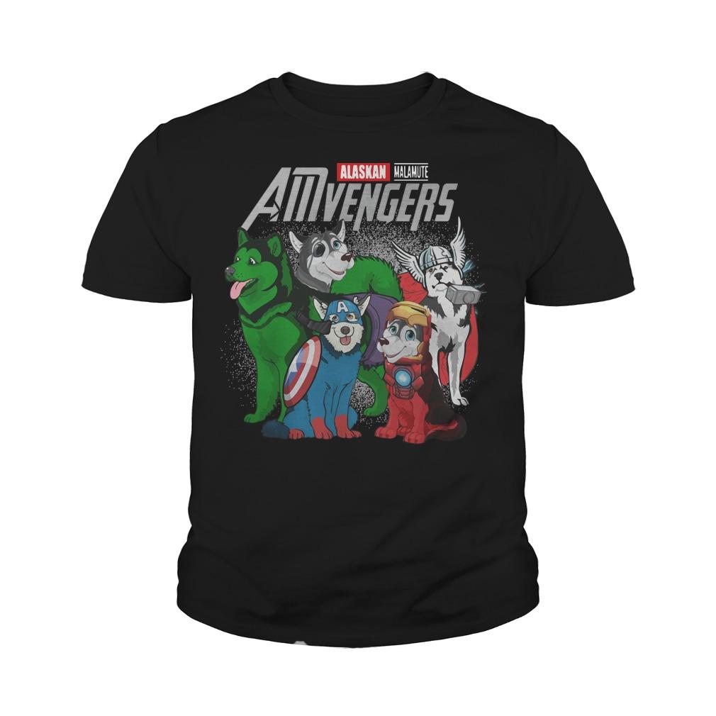 Alaskan Malamute AMvengers Marvel Endgame youth tee