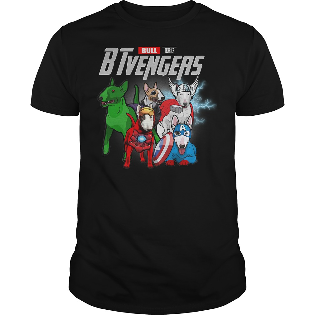 Bull Terrier BTvengers Marvel Avengers shirt