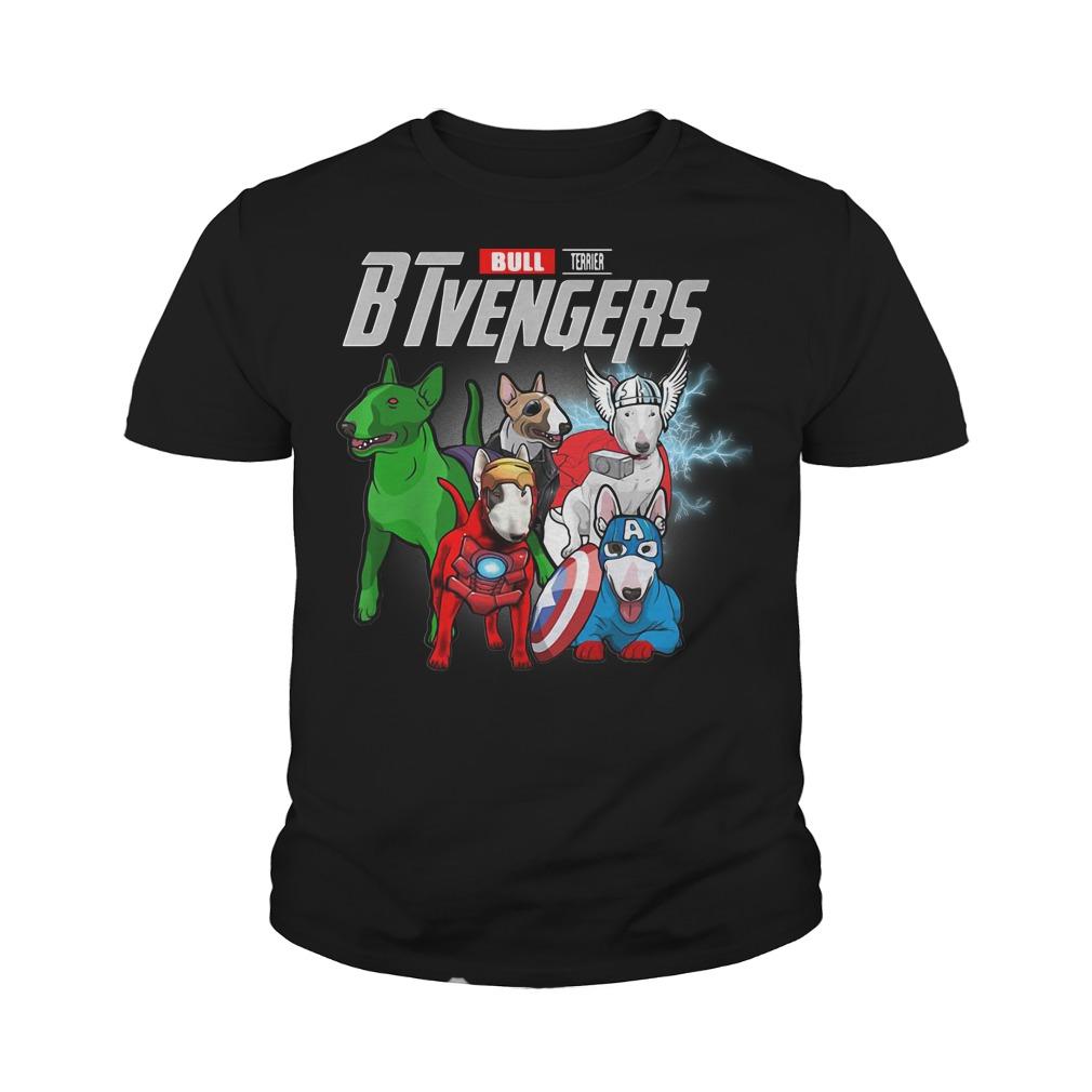 Bull Terrier BTvengers Marvel Avengers youth tee