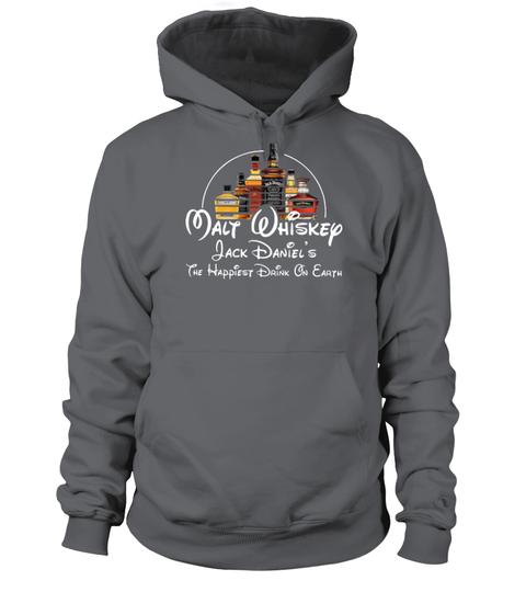 Disney Malt Whiskey Jack Daniel's the happiest drink on earth hoodie