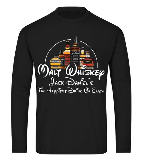 Disney Malt Whiskey Jack Daniel's the happiest drink on earth long sleeve