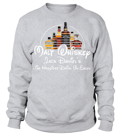 Disney Malt Whiskey Jack Daniel's the happiest drink on earth sweater