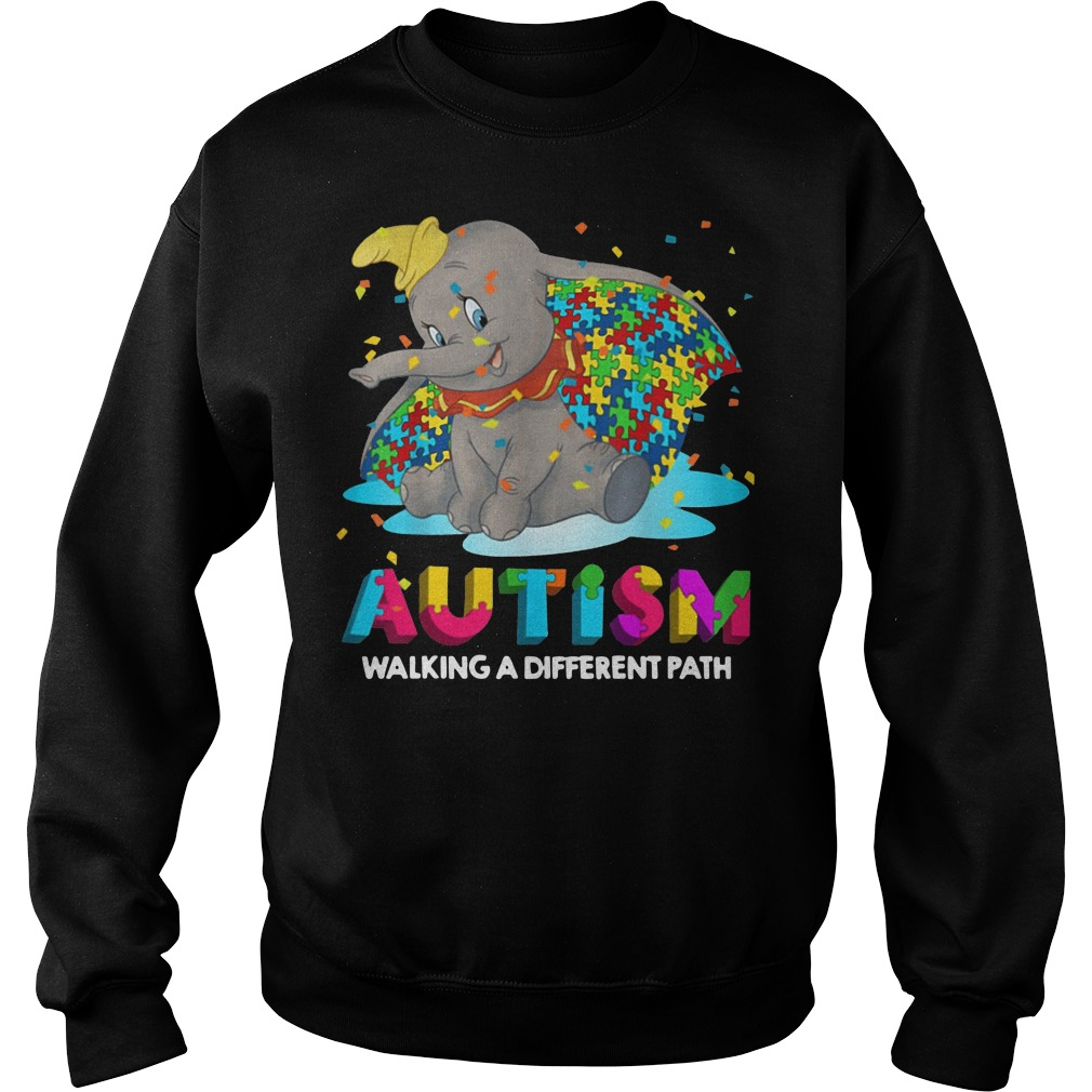 Elephant autism walking a different path sweater