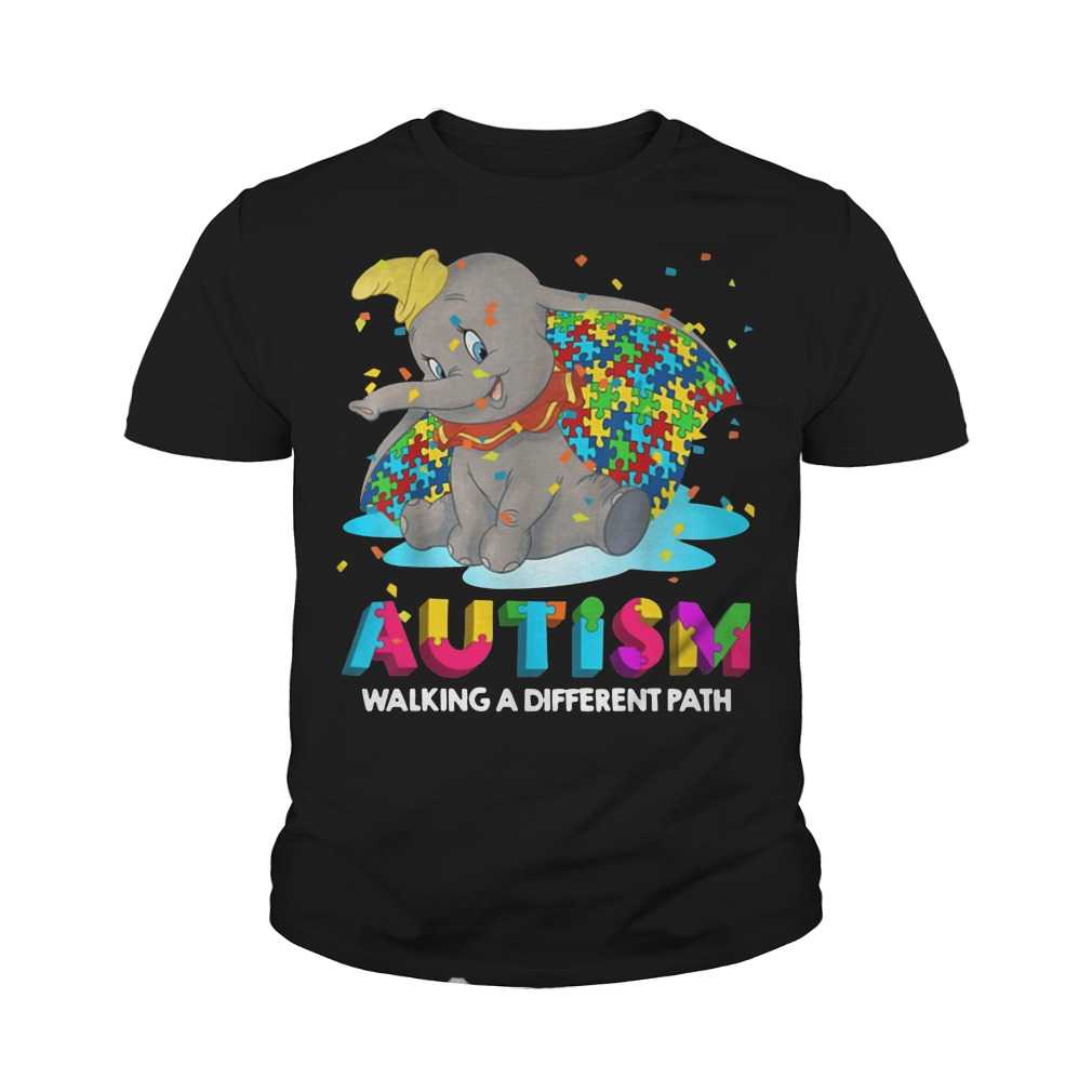 Elephant autism walking a different path youth tee