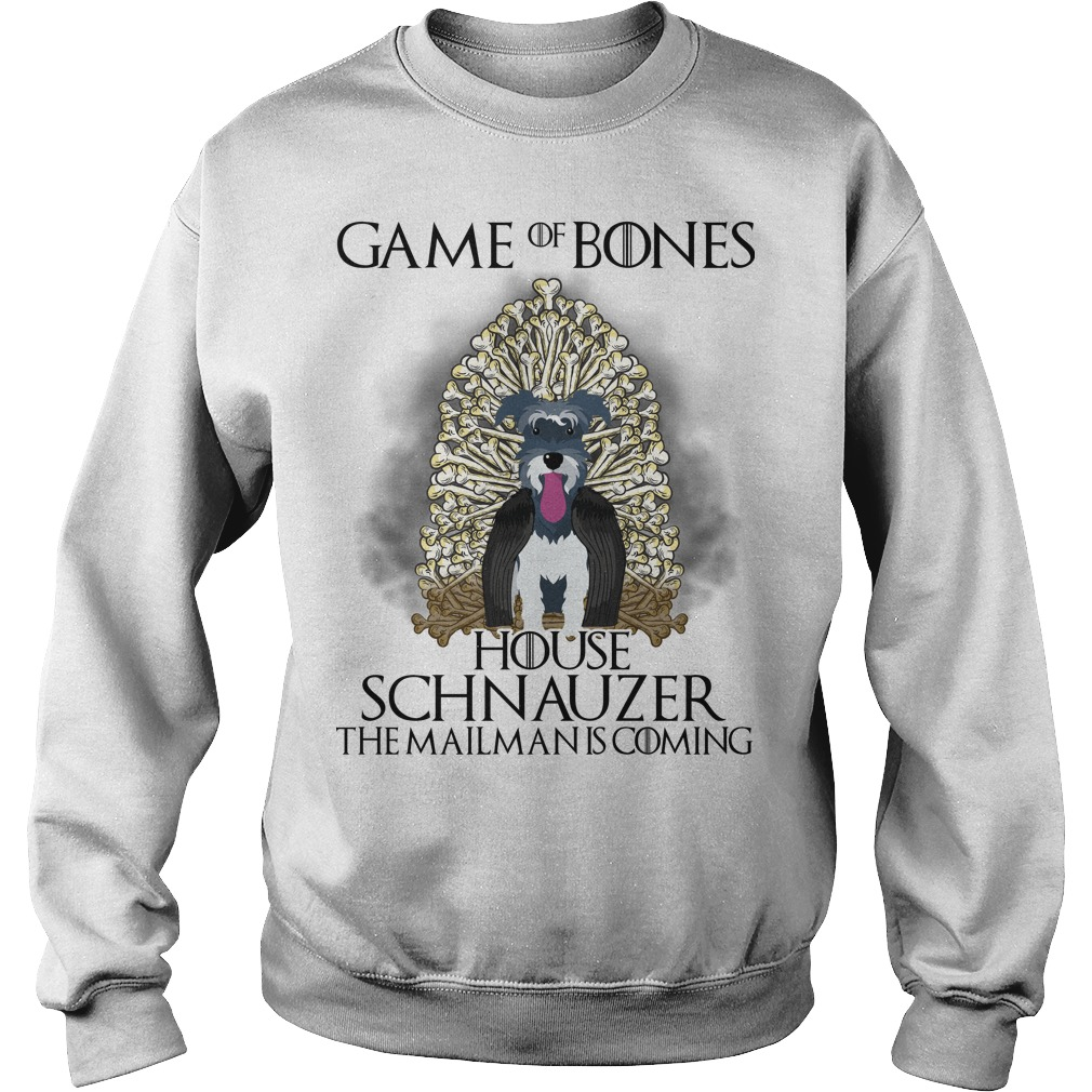Game of Bones house Schnauzer the mailman is coming sweater