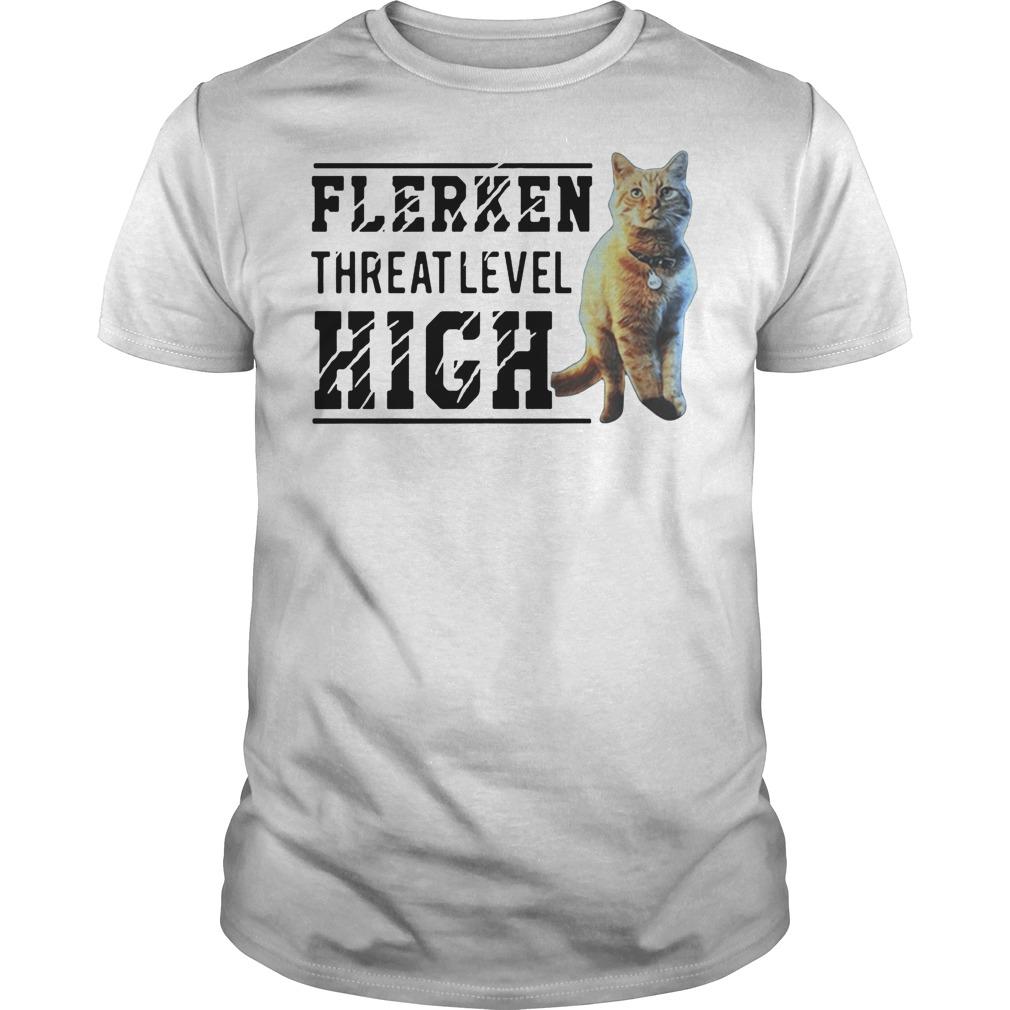 Goose cat Flerken threat level high shirt