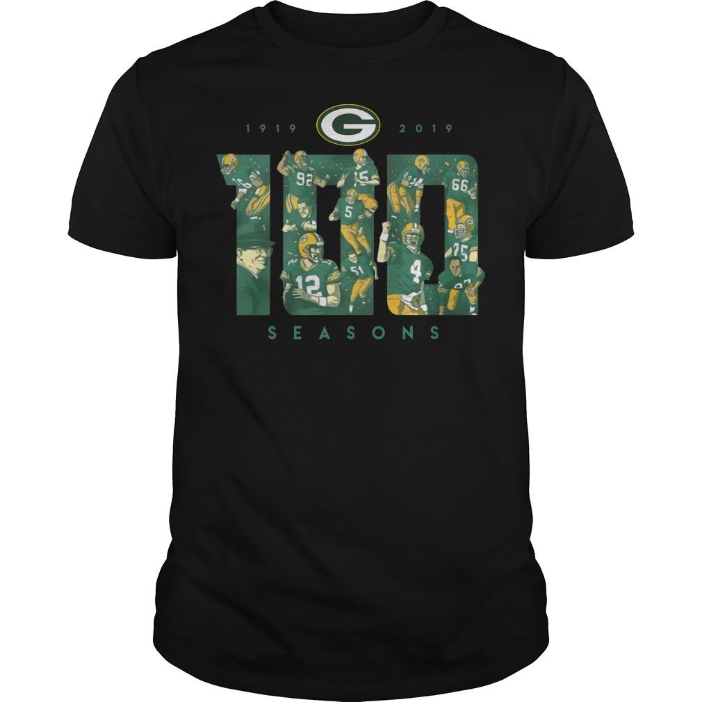 Green bay packers 100 seasons shirt