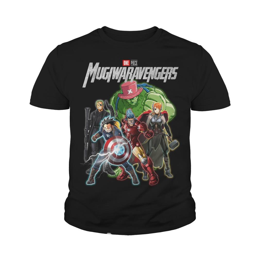 Marvel Avengers One piece Mugiwaravengers youth tee