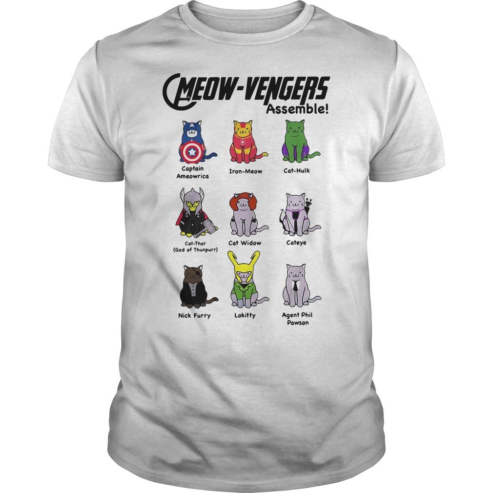 Marvel Cats Meow-avengers assemble shirt