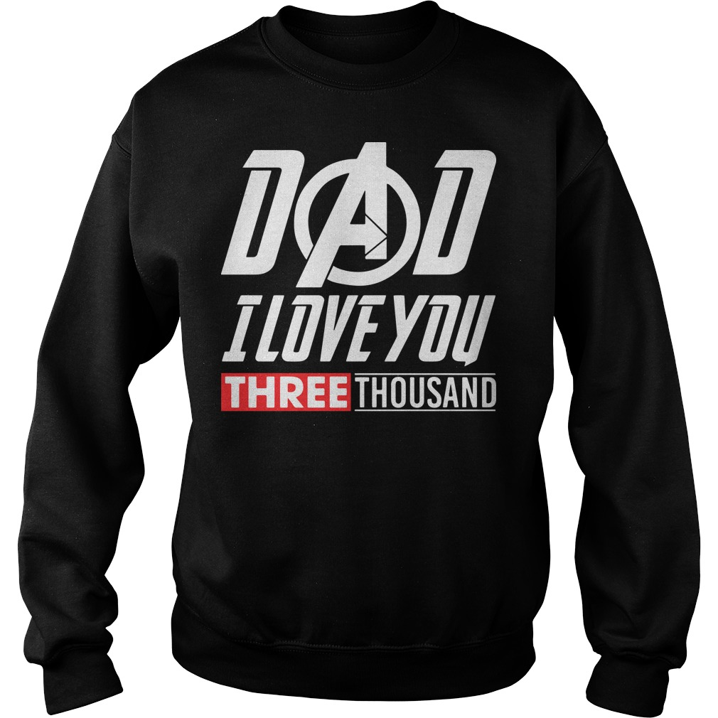 Marvel Dad I Love You 3000 sweater