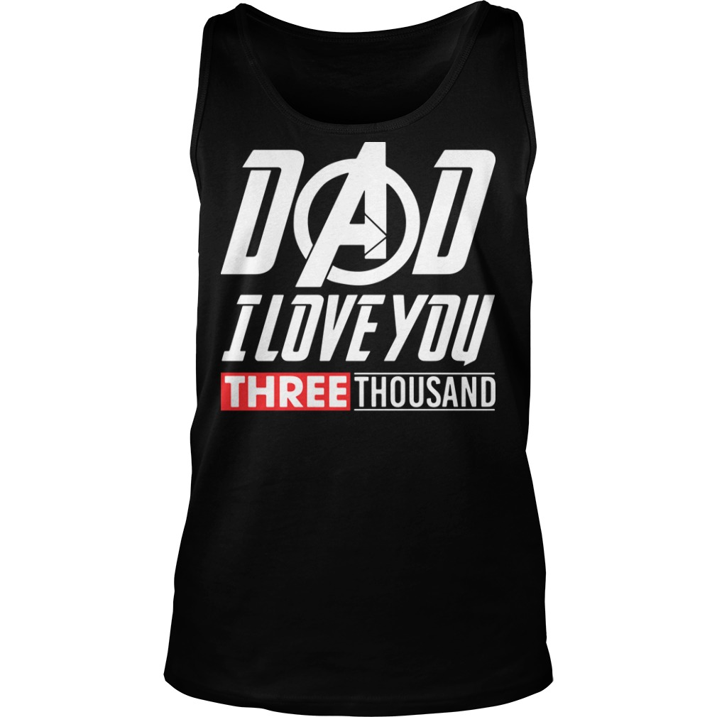 Marvel Dad I Love You 3000 tank top