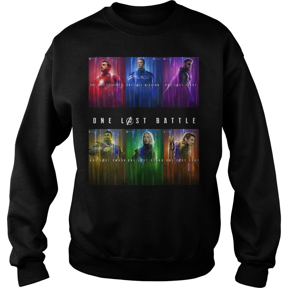 Marvel one last battle sweater