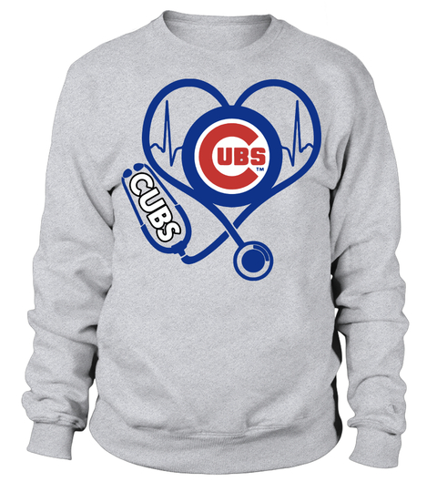 Nurse loves Chicago Cubs stethoscope sweater