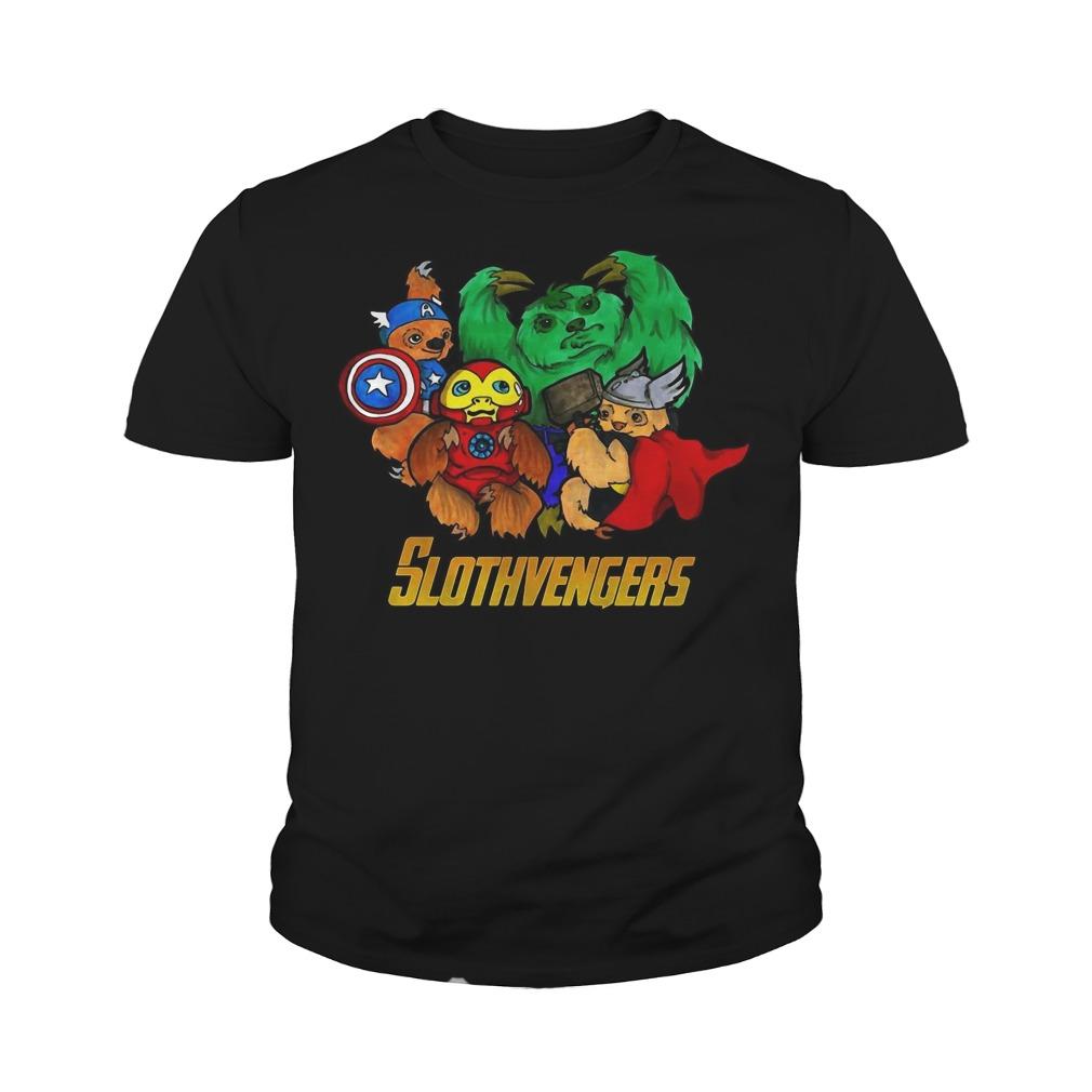 Slothvengers sloth Avengers Endgame youth tee
