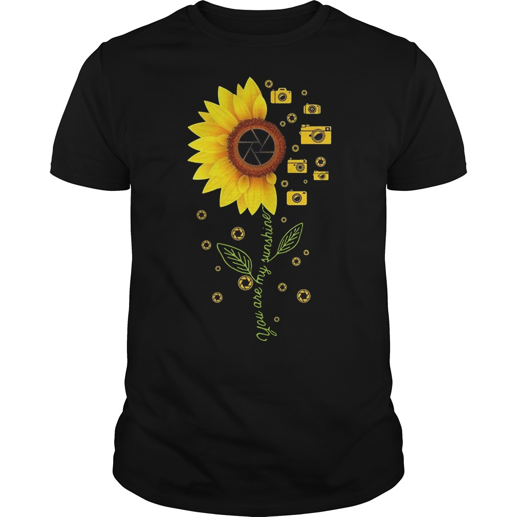 Sunflower Camera you are my sunshine shirt