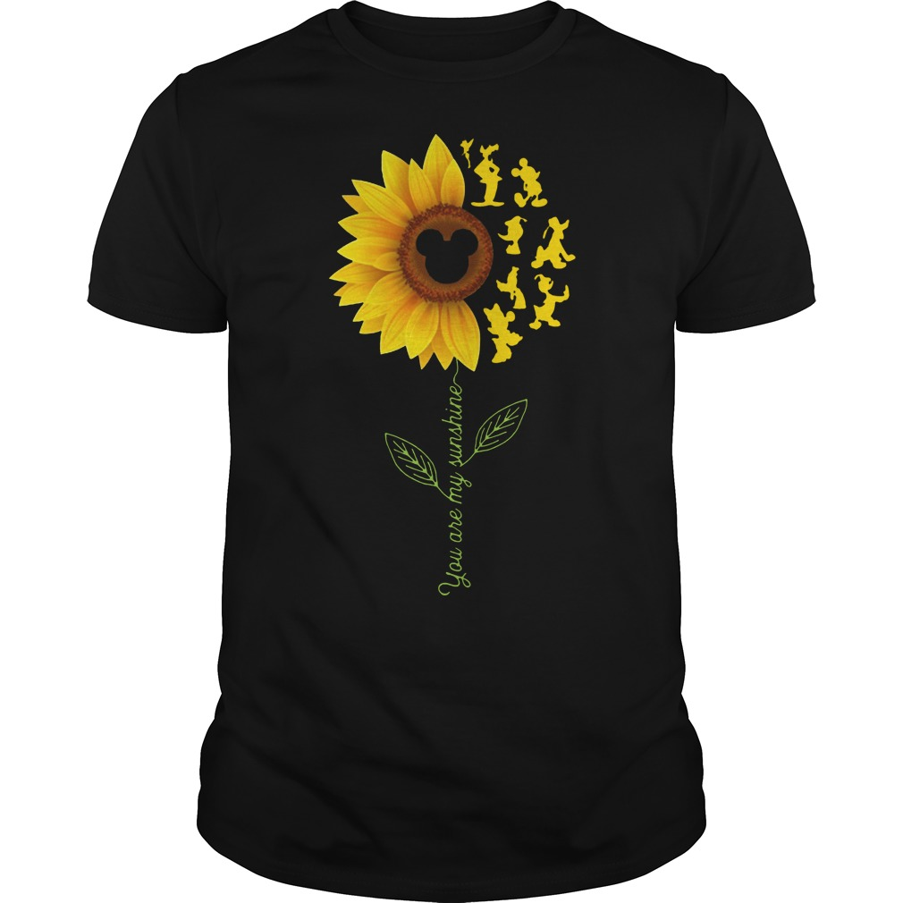 Sunflower Mickey You are my sunshine shirt