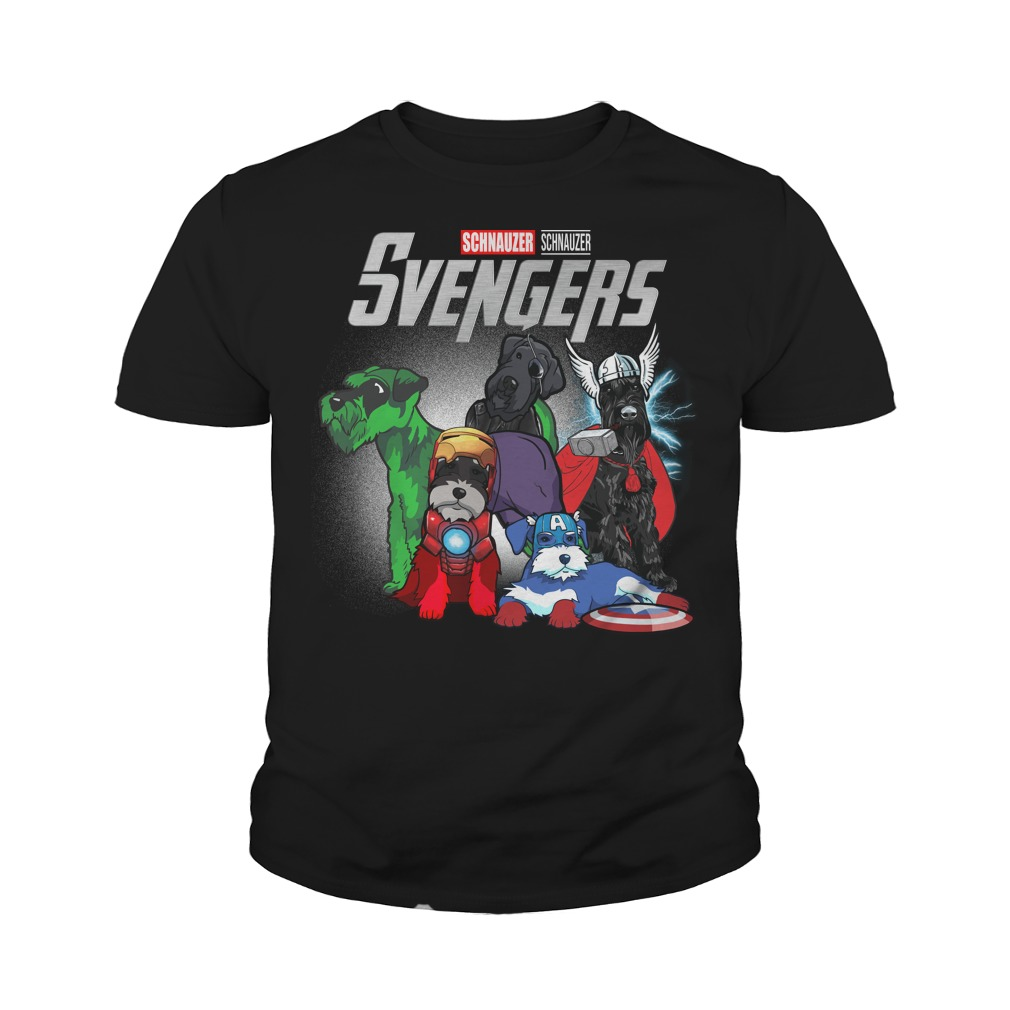 Svengers Schnauzers Avengers Endgame youth tee