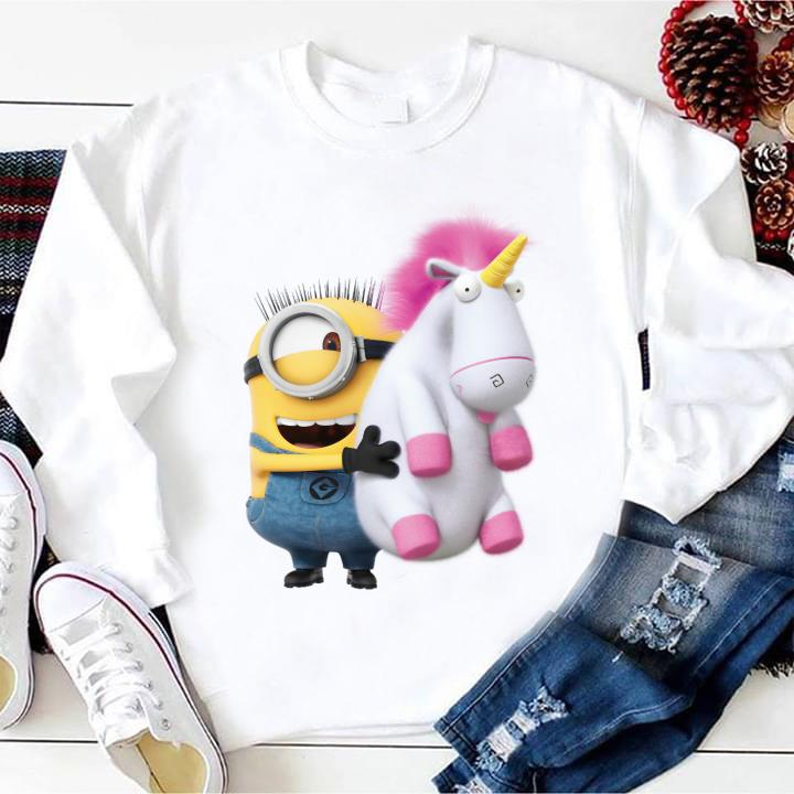 Despicable Me Minion Stuart and Unicorn shirt
