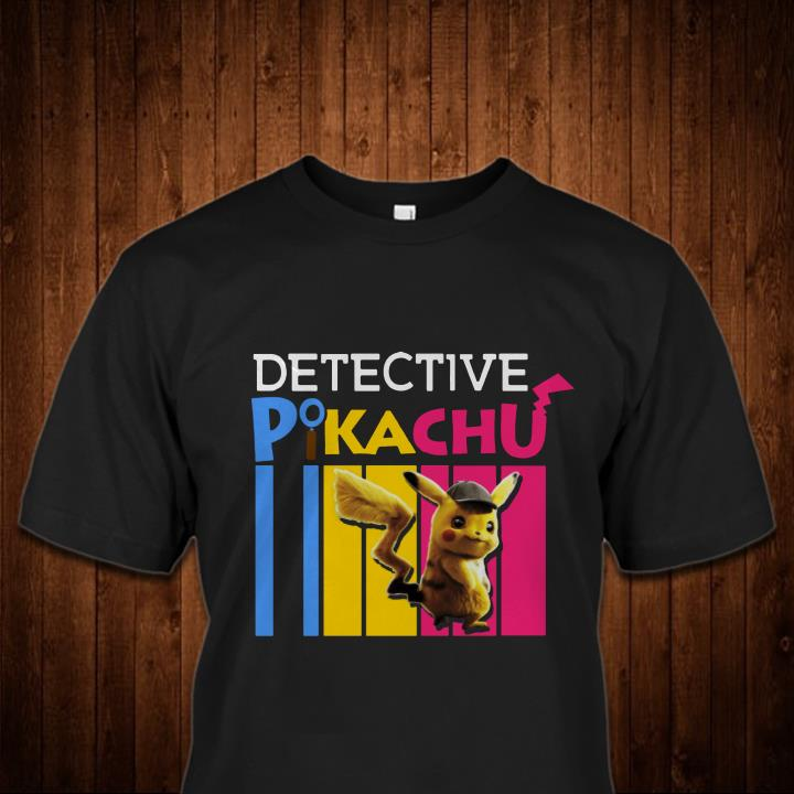 Detective Pikachu Watching Pikachu Pokemon 2019 HA05 shirt