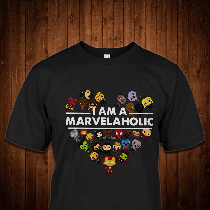 I Am A Marvelaholic Marvel Aholic Avengers shirt