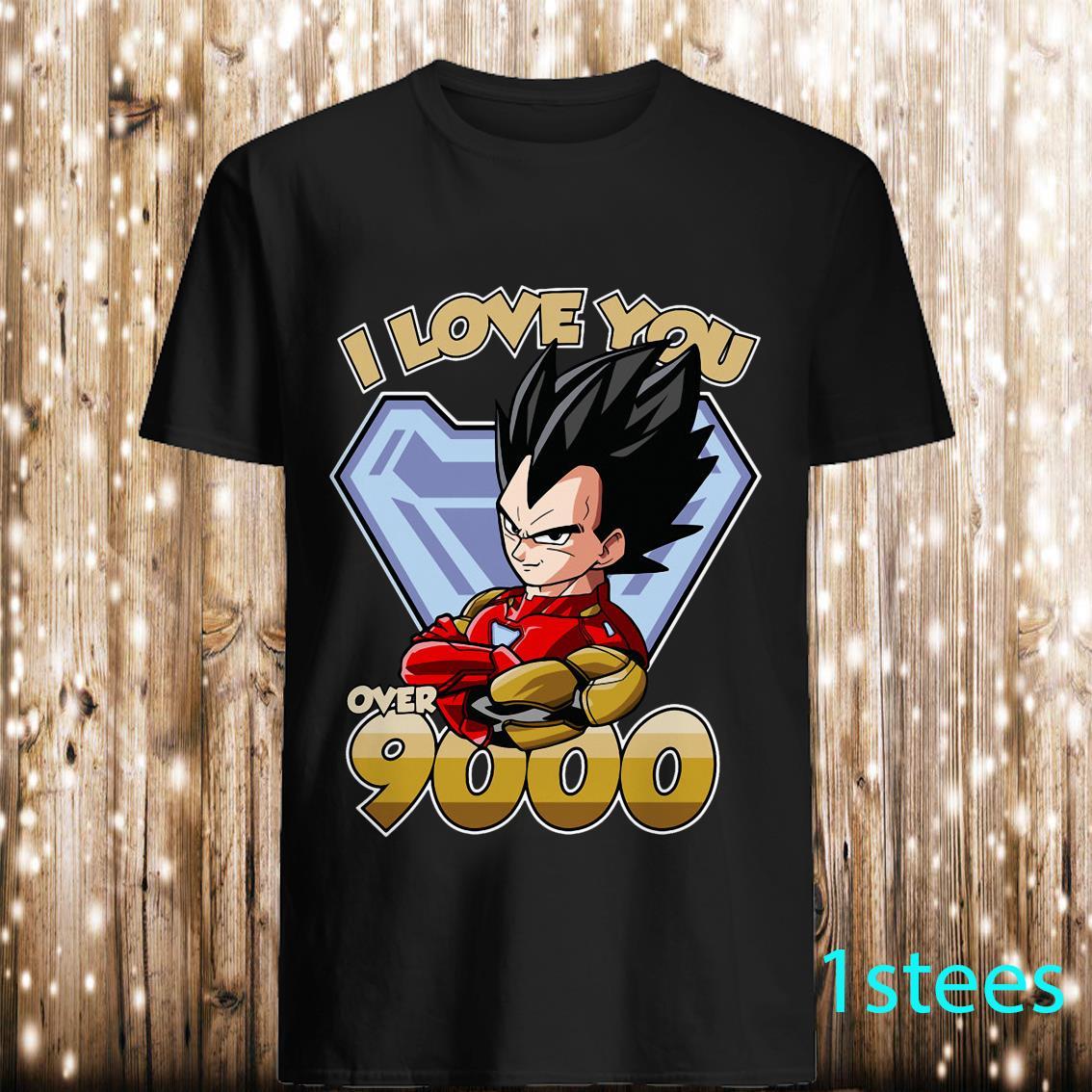 I Love You Over 9000 Dragon Ball Vegeta Shirt
