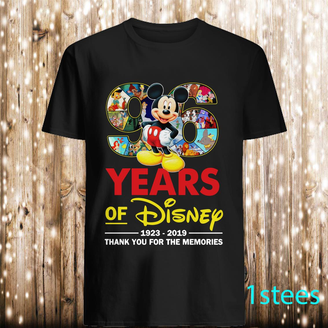 Mickey 96 Years Of Disney 1923 2019 Thank You For The Memories Shirt
