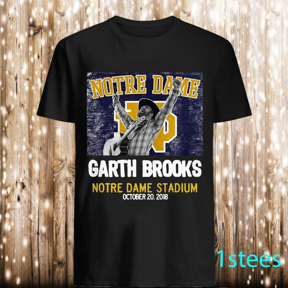 Notre Dame Garth Brooks Notre Dame Stadium Shirt