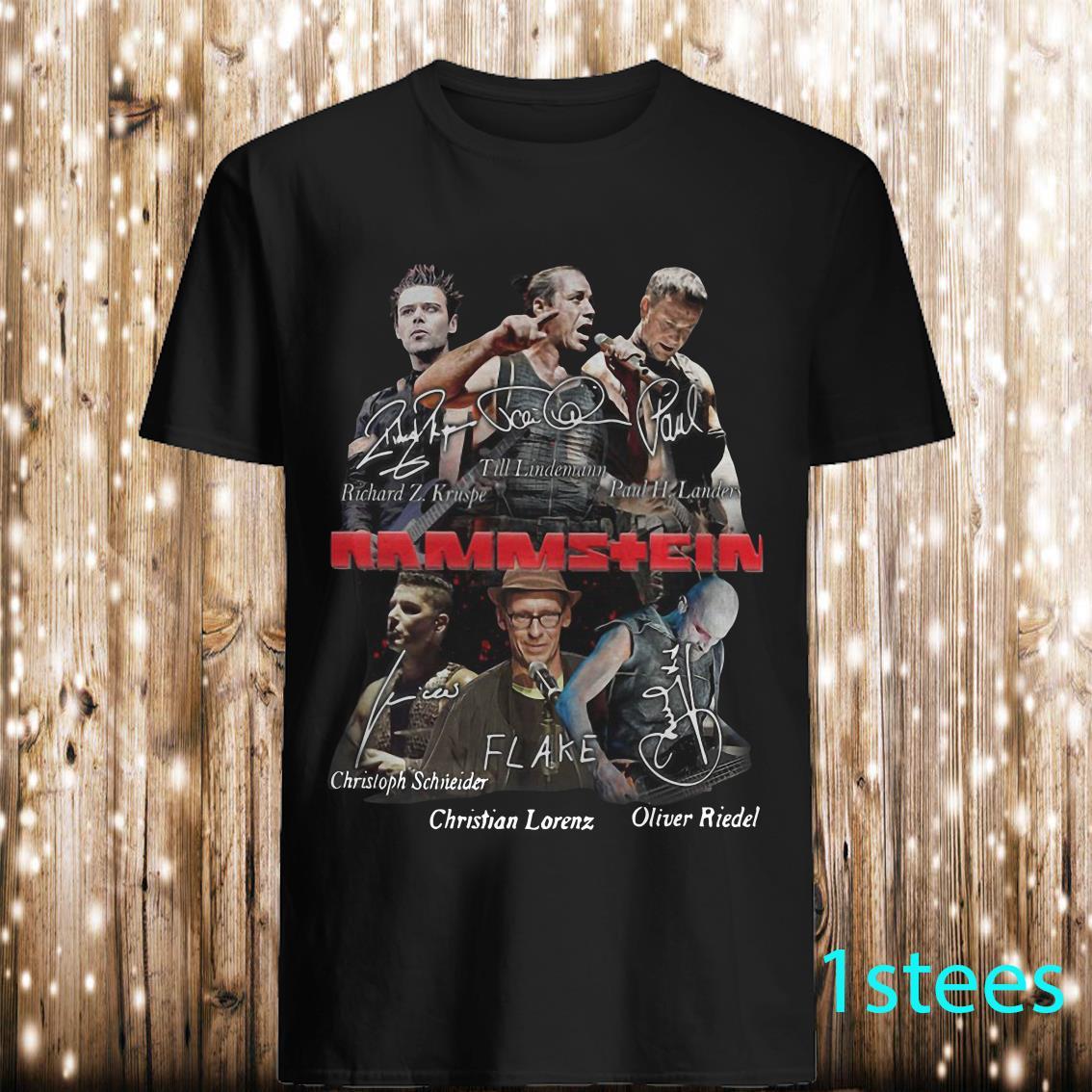 Rammstein Flake signatures shirt