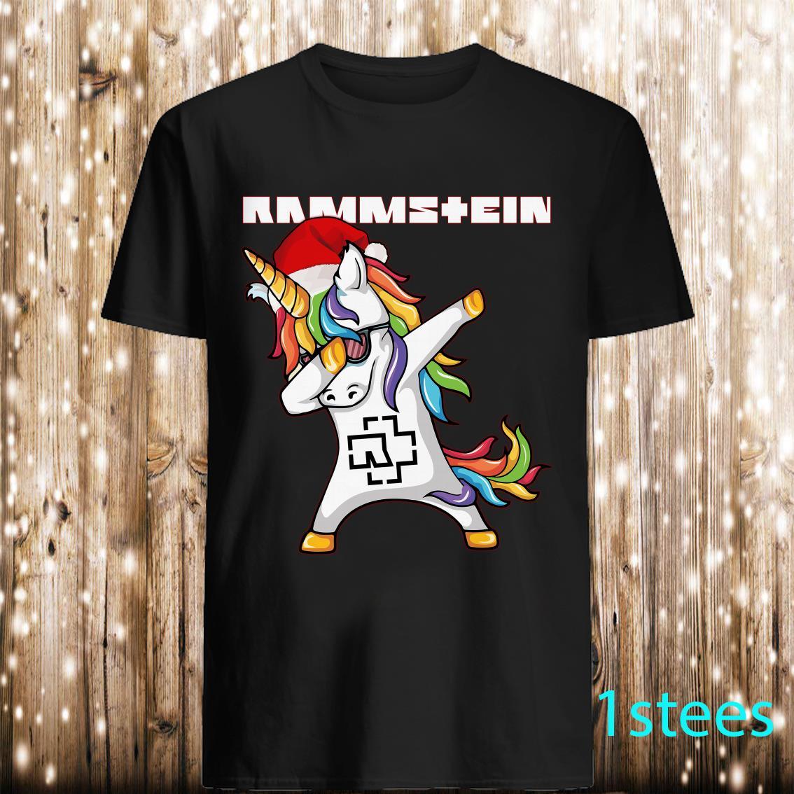 Santa Unicorn dabbing Rammstein shirt