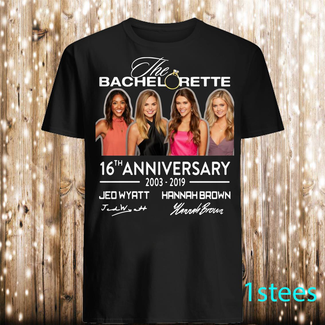 The Bachelorette 16th Anniversary Jed Wyatt Hannah Brown Shirt