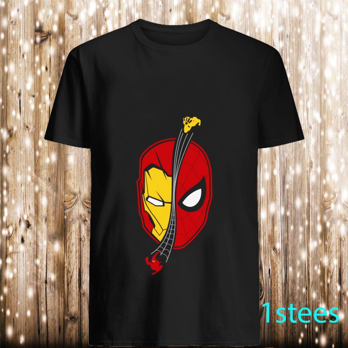 TeeFeLix Spidey Ironman Face Homecoming Shirt