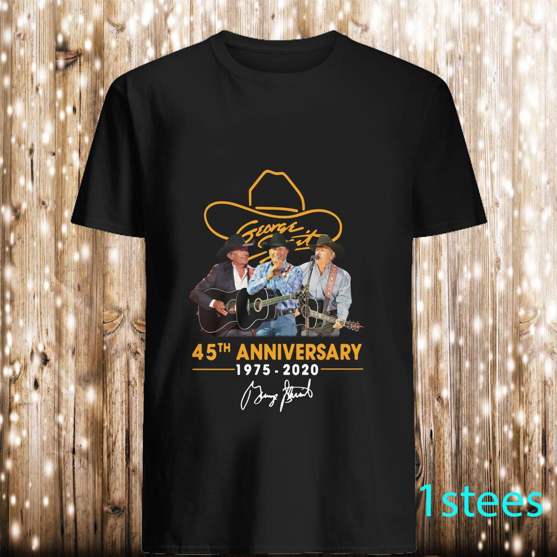 George Strait 25th Anniversary 1975-2020 Signatures Shirt