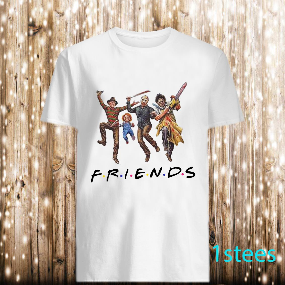 Horror Characters FRIENDS Halloween Shirt