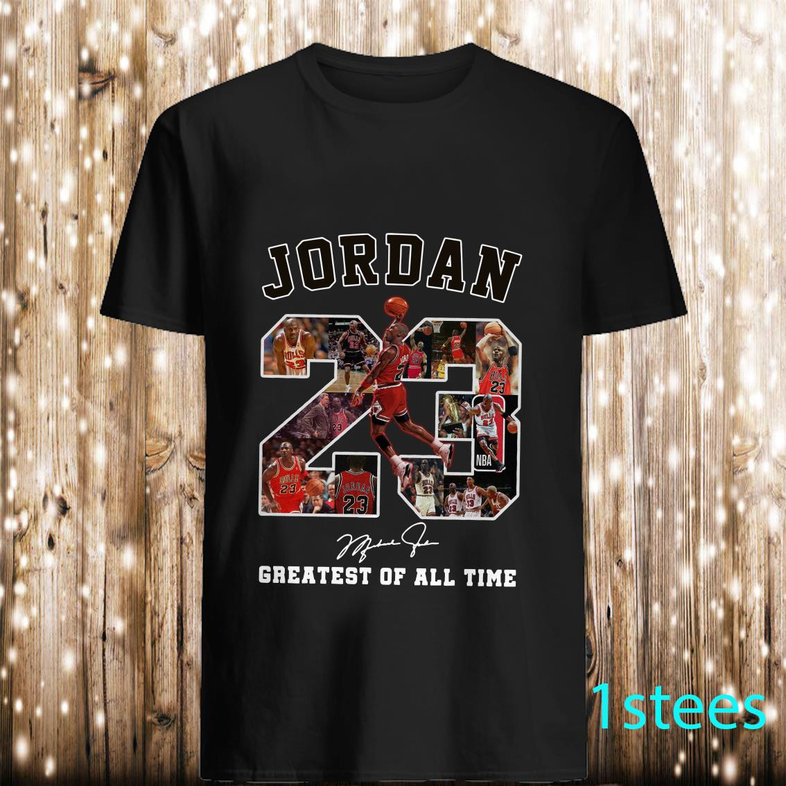 Jordan 23 Greatest Of All Time Signed Shirt