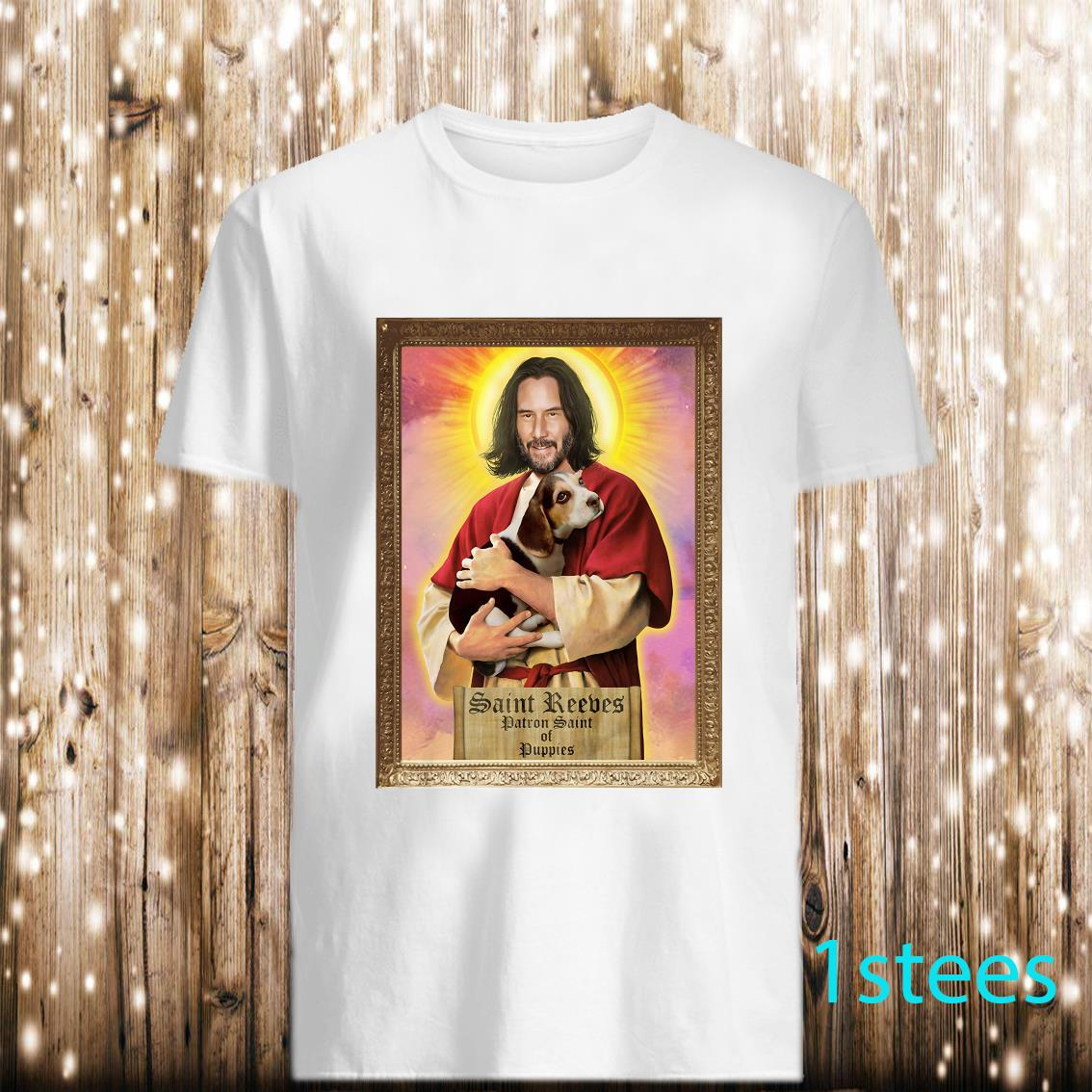 Keanu Reeves Patron Saint Of Puppies Shirt